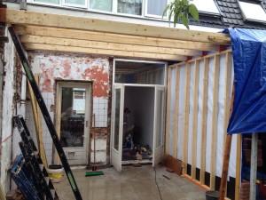 dakkapel en start uitbouw